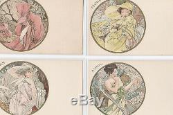 MUCHA série complète de 12 cartes postales les Mois très bon état