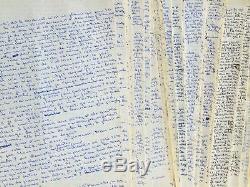 Manuscrit complet du roman de François Mallet-Joris, Les Personnages
