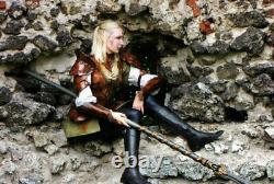 Médiévale Cuir Complet Suit De Armor / Cuir Et Lady Armure
