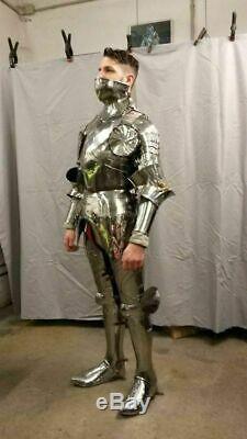 Médiévale Jeu de Rôle Gothique Complet Corps Convient pour Armor Bataille Knight