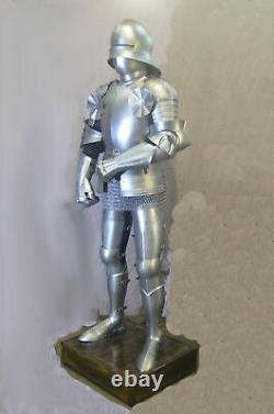 Médiévale Knight Wearable Suit De Armor Crusader Gothique Complet Corps Armure