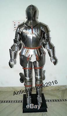 Médiévale Knight Wearable Suit de Armor Crusader Combat Complet Corps Renforcée