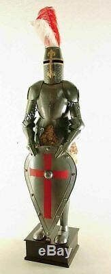 Médiévale Knight Wearable Suit de Armor Crusader Combat Complète Corps Armour