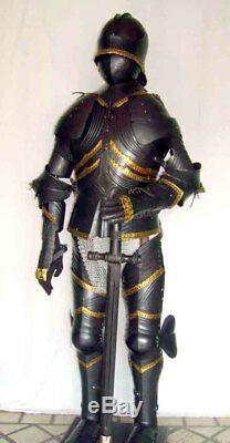 Médiévale Knight Wearable Suit de Armor Crusader Gothique Complète Body Armure