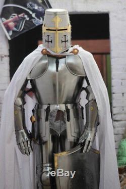 Médiévale Knight Wearable Suit de Armor Crusader Templier Complet Corps Armour