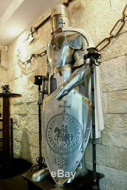 Médiévale Wearable Knight Crusador Complet Suit de Armure Objets Armor Costume
