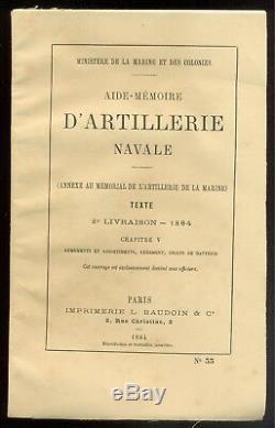 Mémorial de L'ARTILLERIE de la MARINE Tome XII 2e livraison 1884 (complète)
