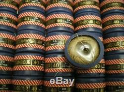 Mercerie ancienne boite complète de 50 pelotes lin LE PETIT TAMBOUR