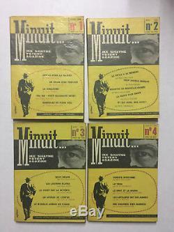 Minuit Editions Fayard 1959/60 Collection complète des 12 numéros TBE