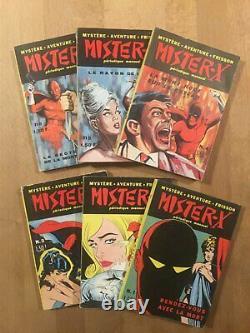 Mister-X Collection complète des 6 numéros TBE