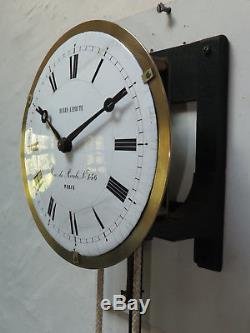 Mouvement complet Regulateur pendule de gare HENRY LEPAUTE clock railway station