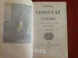 Napoleon Histoire Du Consulat Et De L'empire Complet 21 Volumes 1845 /1874