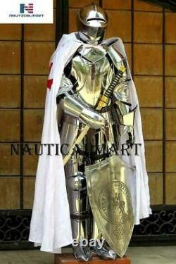 Noël Armure Médiévale Knight Crusader Complet Suit De Armor Collection Fre