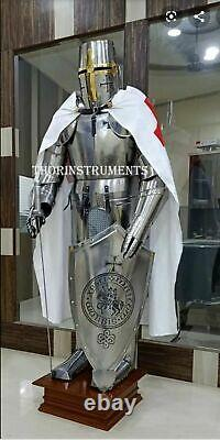 Noël Armure Médiévale Wearable Knight Crusader Complet Suit De Armor Collect