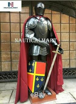 Noël Armure Médiévale Wearable Knight Crusader Complet Suit De Armor Collectib