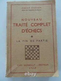 Nouveau Traité Complet D'Echecs La Fin de Partie Andre Cheron 1952