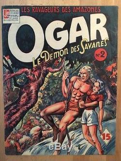 OGAR LE DEMON DES SAVANES Yves Mondet 1948 Collection complète TBE