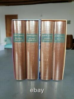 Oeuvres complètes t. 1 et t. 2, t. 3 et t. 4 Albert Camus collection bib de la p