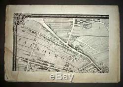 PLAN DE LA VILLE DE PARIS PAR TURGOT tirage début 19eme siècle complet