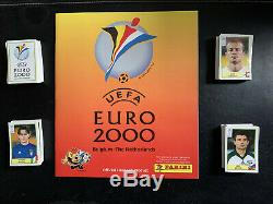 Panini EURO 2000 Set complet + album vide sans écritures avec bon de commande