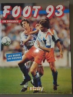 Panini Foot 93 Album de football imagé Complet En bon état + poster