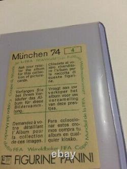 Panini Rare Football Munchen 74 1974 Sticker # 4 Coupe De Monde