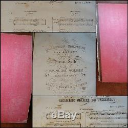 Partition De Weber Collection Complete Des Oeuvres Pour Piano-forte Circa 1810