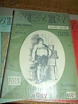 Pas COURANT COLLECTION COMPLÈTE ORIGINAL des 46 Nos de la Revue BIZARRE
