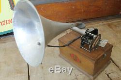 Pas courant phonographe gramophone complet de tout ses éléments 100% origine