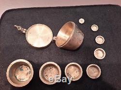 Pile De Poids A Godet 1 Livre Bronze XVIII Eme Siècle Rare Car Complète
