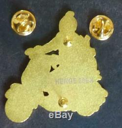 Pin's SUPERBE SERIE COMPLETE DE 5 PINS TINTIN ET MILOU, HERGE 20 EX, 5 cm x 5 cm