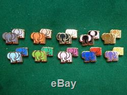 Pins Elephants doubles Bar Romain serie complete de 10 pins arthus Bertrand