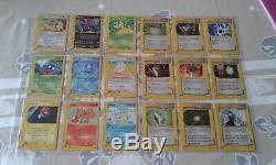 Pokemon AQUAPOLIS COMPLETE SET DE BASE 151 CARDS /147 NO HOLO NO CRYSTAL MP