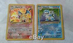 Pokemon Set De Base Unlimited 102 Cards Complete Set. Mp/lp