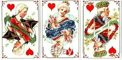 RARE. 2 JEUX DE 52 CARTES. NAIPES. CARDS. WHIST. GRIMAUD. Complets (circa 1906)
