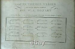 RARE COLLECTION COMPLETE DES OEUVRES DE PIANO PAR MOZART GRAVEE Ed. PLEYEL