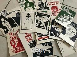 RARE Série COMPLÈTE Mai 68! CARTES POSTALES LES AFFICHES DE MAI 68