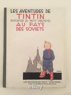 RARE collection complète de BD Tintin avec Tintin au pays des soviets