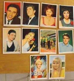 RARE série complète de 90 images chanteurs comédien année 60 US France