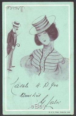 Raphaël Kirchner. Pschutt. Série complète 6 cartes. Inconnu de Dell'Aquila