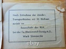 Rare Caisse Allemande Complete WW2 de 36 Zünder piles Bakelite pour LW ou WH
