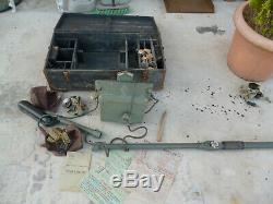 Rare Detecteur Militaire De Mine Metaux Dorsale Complet 39/45