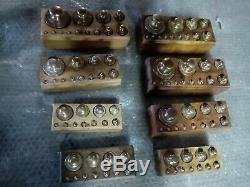Rare LOT boite de poids complète ancienne pour balance collection mesure laiton