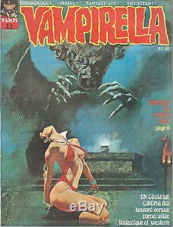 Rare Revue Vampirella Tête De Série N° 1 À 12 + Rare Poster Par Frank Frazetta