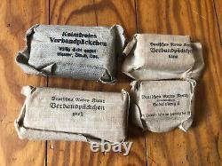 Rare Sacoche Medical Allemand Complète Drk Date De 1939 Ww2 Militaria