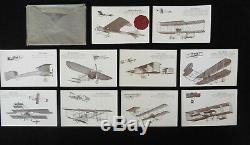 Rare Série Complète 10 CPA MEETING AVIATION BAIE de SEINE 1910 / Carte Postale