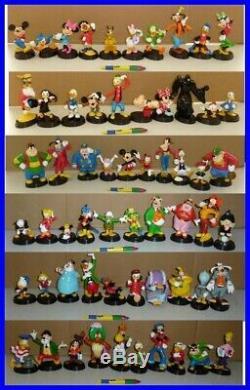 Rare Série Complète 60 Figures Statue Disney Collection Première de Agostini