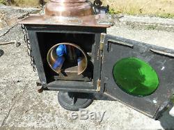 Rare ancienne lanterne lampe chemin de fer PLM train avant S N C F complete