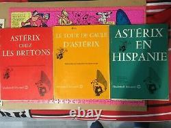Rare collection complète des 3 bd Astérix educatief en français avec glossaire