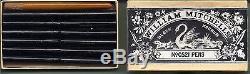 Rare et belle boîte de plumes tubulaires W. Mitchell 0521. Complète
